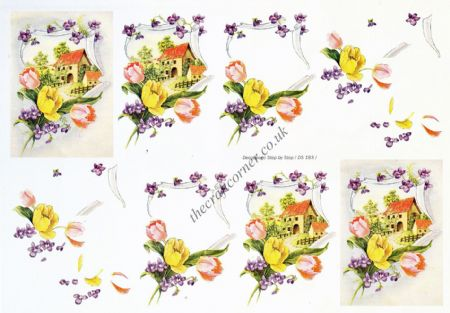 Edwardian New Home 3d Decoupage Sheet